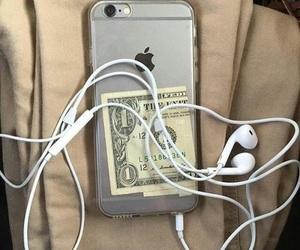 iphone, grunge, and money image
