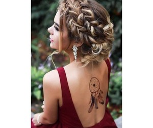 body art, braid, and cheveux image