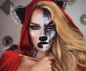 Halloween, makeup, and wolf image