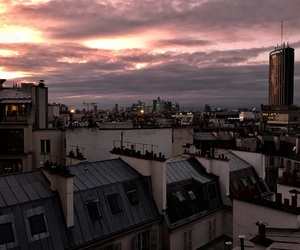 buildings, paris, and sky image