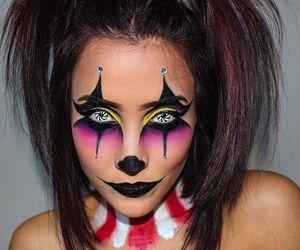 circus, Halloween, and makeup image