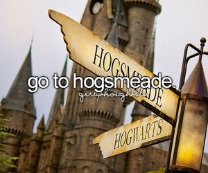 harry potter, hogsmeade, and girly thoughts image
