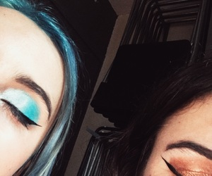 best friends, makeup, and tumblr image