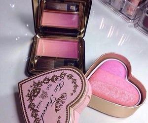 makeup, pink, and blush image