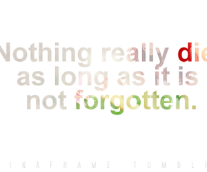 death, forgot, and typography image