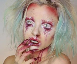 colorful, make up, and creepy image