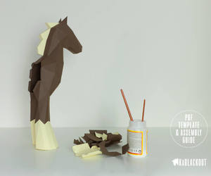 diy, horse, and Paper image