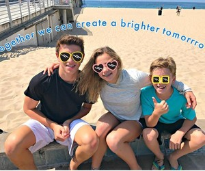 beach, family, and edit image