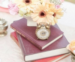 flowers, beauty, and book image