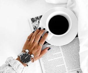 coffee, nails, and fashion image