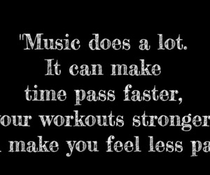 music, quotes, and workout image