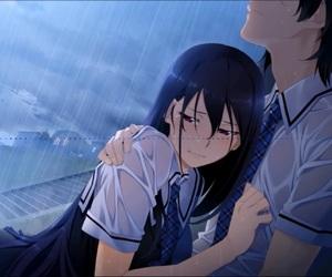 rain and sad image