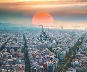 Barcelona, earth, and europe image