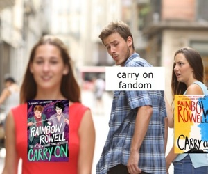 carry on, rainbow rowell, and covers image