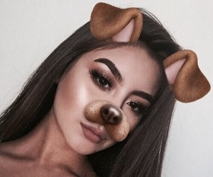 girl, snapchat, and beauty image