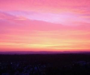 sunset, sky, and sun image