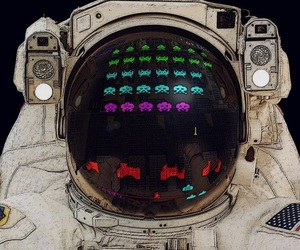 art, astronaut, and illustration image