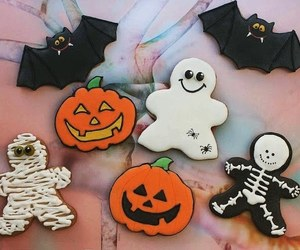 autumn, bats, and pumpkin image