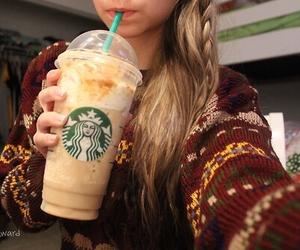 coffee, starbucks, and girl image