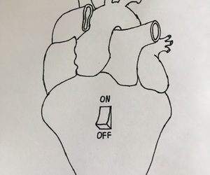 black, draw, and heart image
