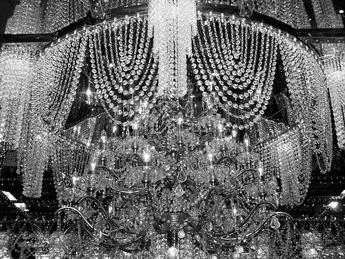 chandelier, crystal, and light image