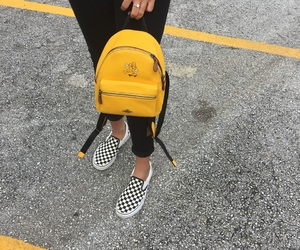 yellow, aesthetic, and bag image