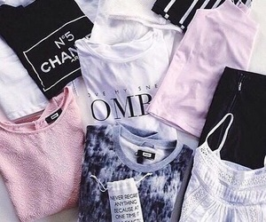 black, chanel, and tops image