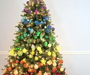 christmas, colorful, and decorations image