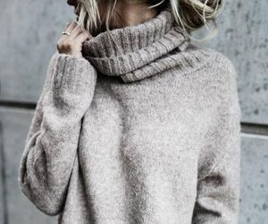 casual, highneck, and sweater image