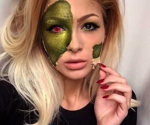 Halloween, green, and make up image