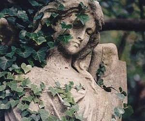 angel, sculpture, and art image