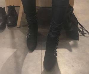 black, legs, and shoes image
