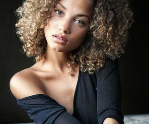 hair, model, and curly hair image