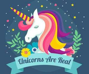 rainbow, unicorn, and wallpaper image
