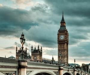 london, Big Ben, and england image