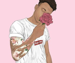 background, pink, and supreme image