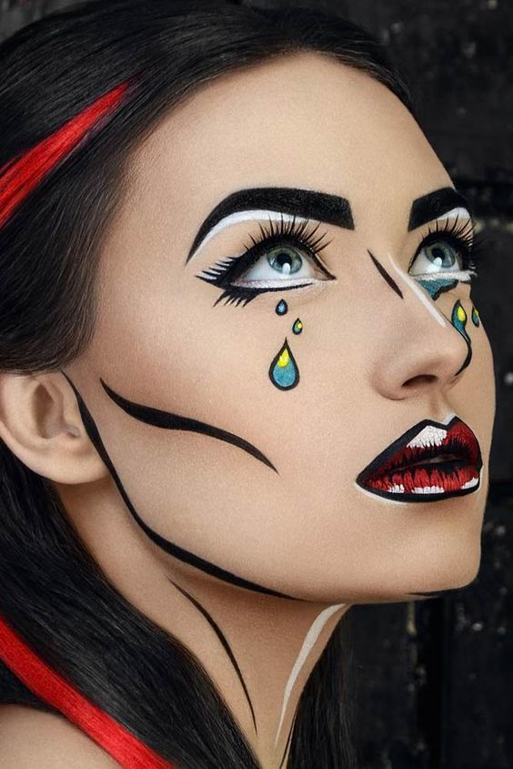 Cartoon Halloween Makeup.Pretty Halloween Makeup Ideas Youll Love See More Http Glaminati Com Pretty Halloween Makeup Ideas