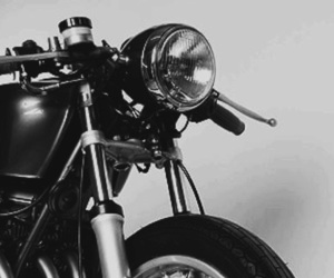 aesthetic, b&w, and motorcycle image