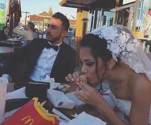 wedding, couple, and food image