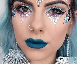 mermaid, makeup, and Halloween image