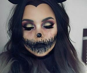 make up, halloween beauty, and whi challange image