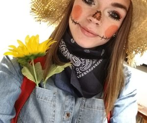 costume, Halloween, and scarecrow image