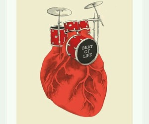 heart, drums, and life image