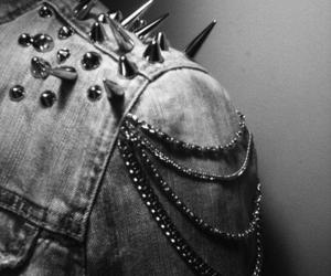 jacket, spikes, and rock image