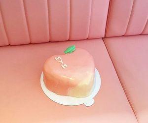 cake, pastel, and peach image