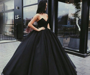 dress, black, and fashion image