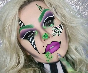art, Halloween, and makeup image