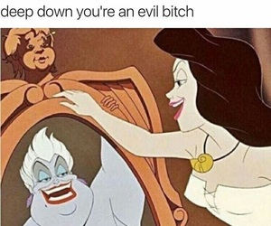 funny, bitch, and evil image