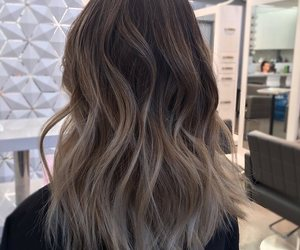 beauty, hair, and ombre hair image
