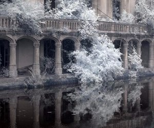 castle, winter, and france image